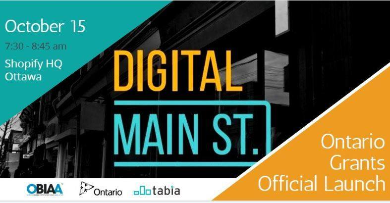 Digital main street grant program launch