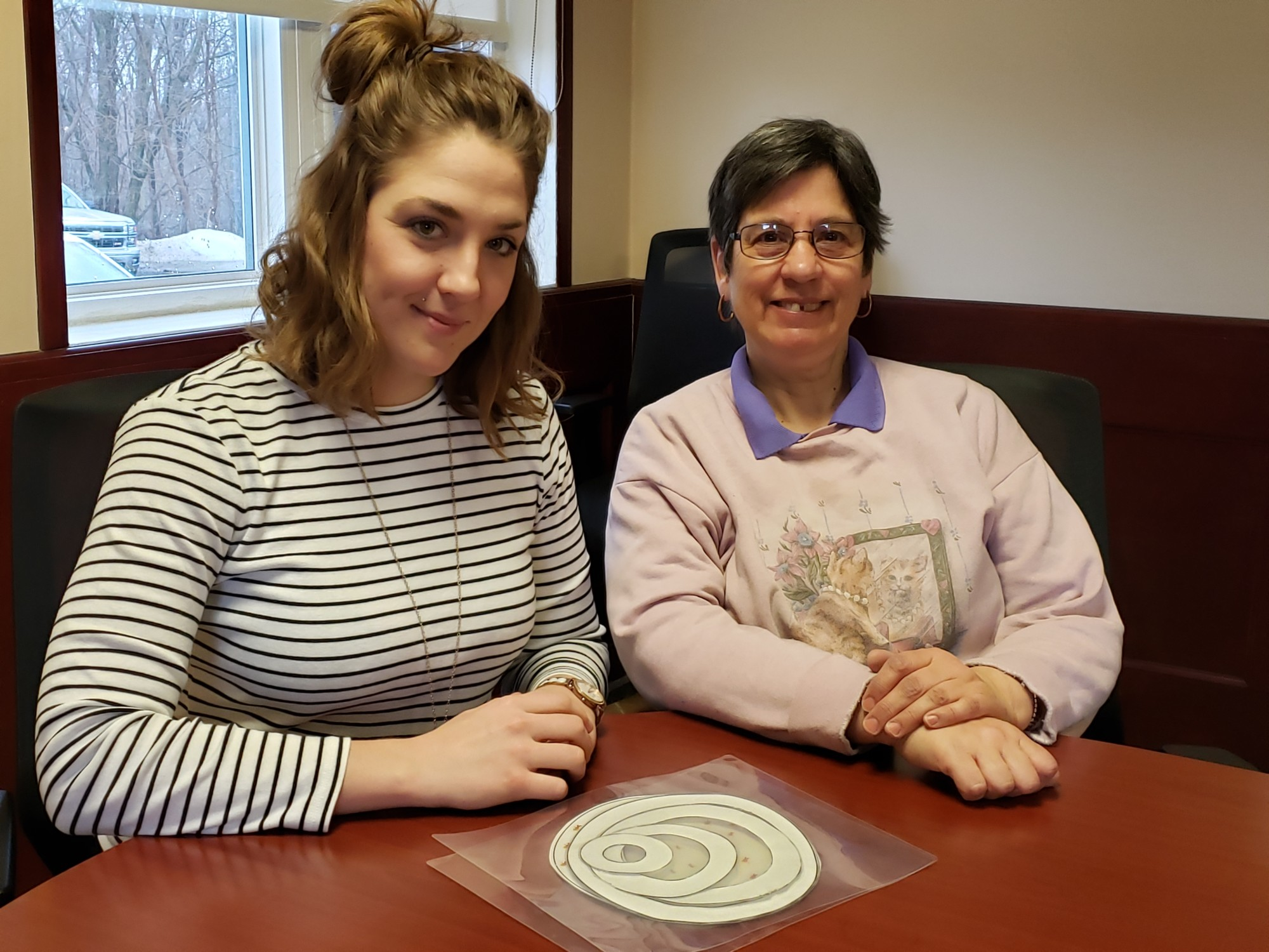 Joan and Carrie training at Career Services in Brockville