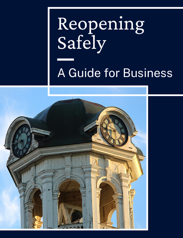 Cover of Reopening Safely a Guide for Business