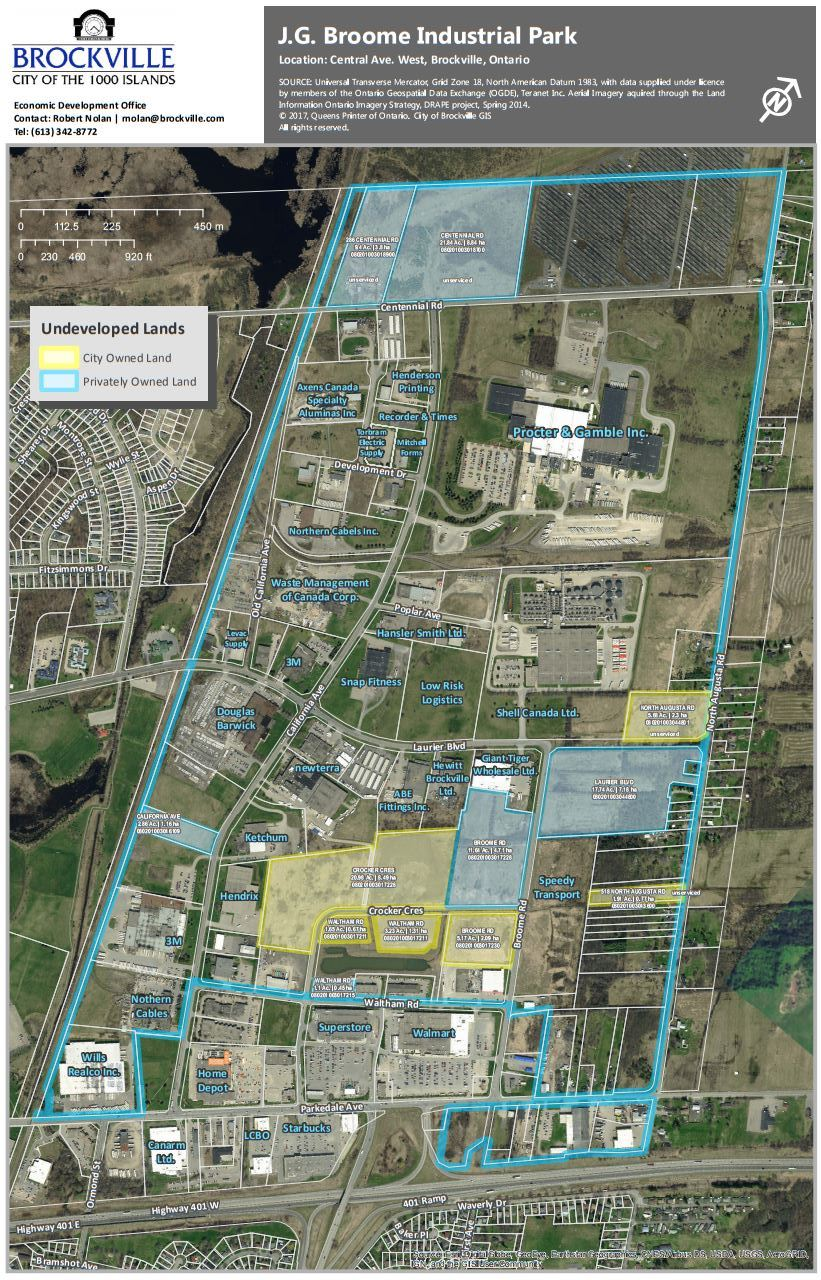 John G. Broome Business Park Map - Brockville